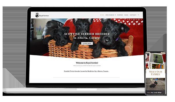 canadian website design royal scotties