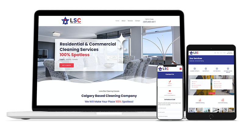 canadian web design cleaning