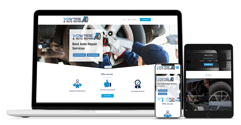 canadian web design auto repair