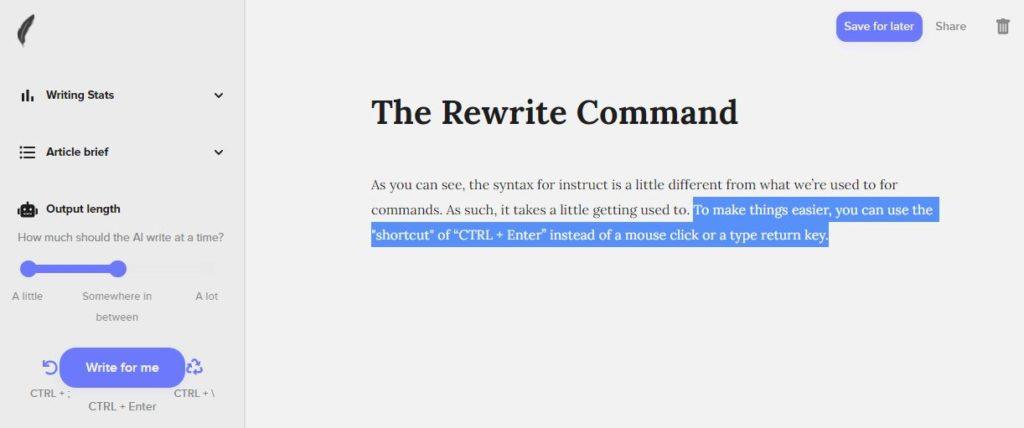 ShortlyAI Rewrite