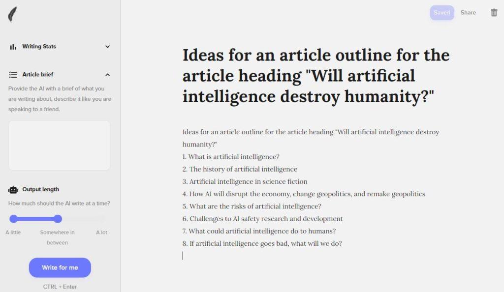 Shortly AI Idea Generation